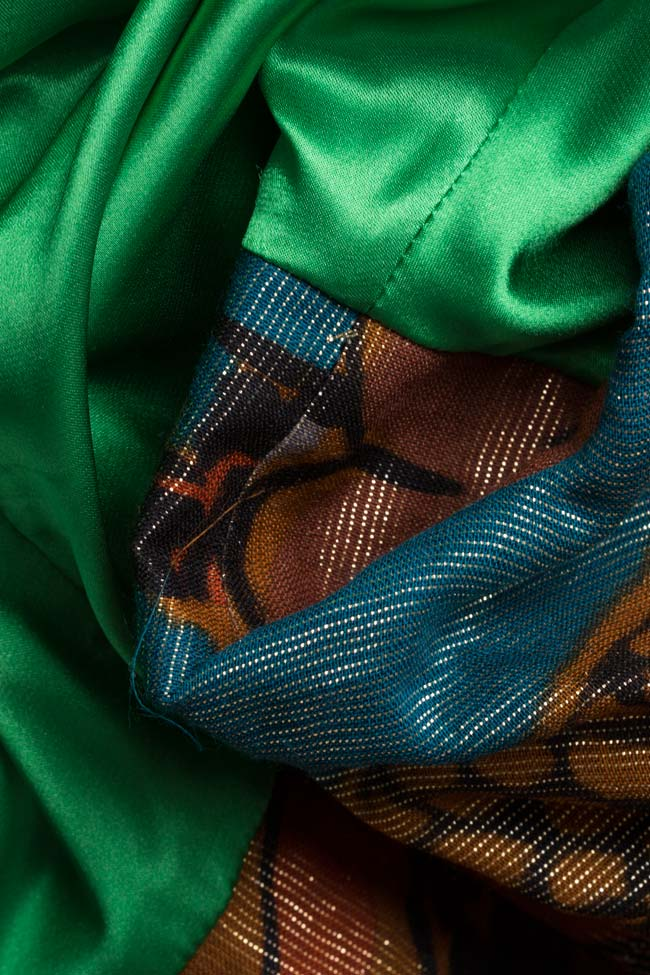Printed silk-blend mini dress Andrei Spiridon image 4