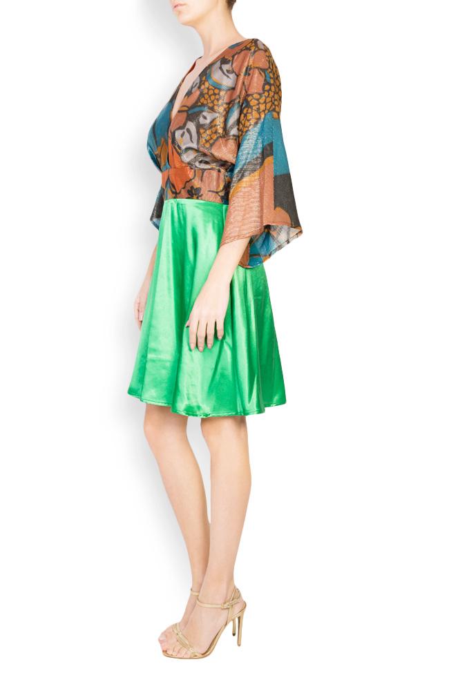 Printed silk-blend mini dress Andrei Spiridon image 1