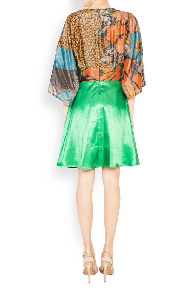 Printed silk-blend mini dress Andrei Spiridon image 2
