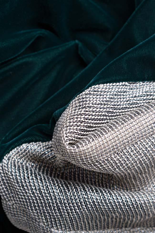 Two-tone silk-blend velvet lame maxi dress Andrei Spiridon image 4