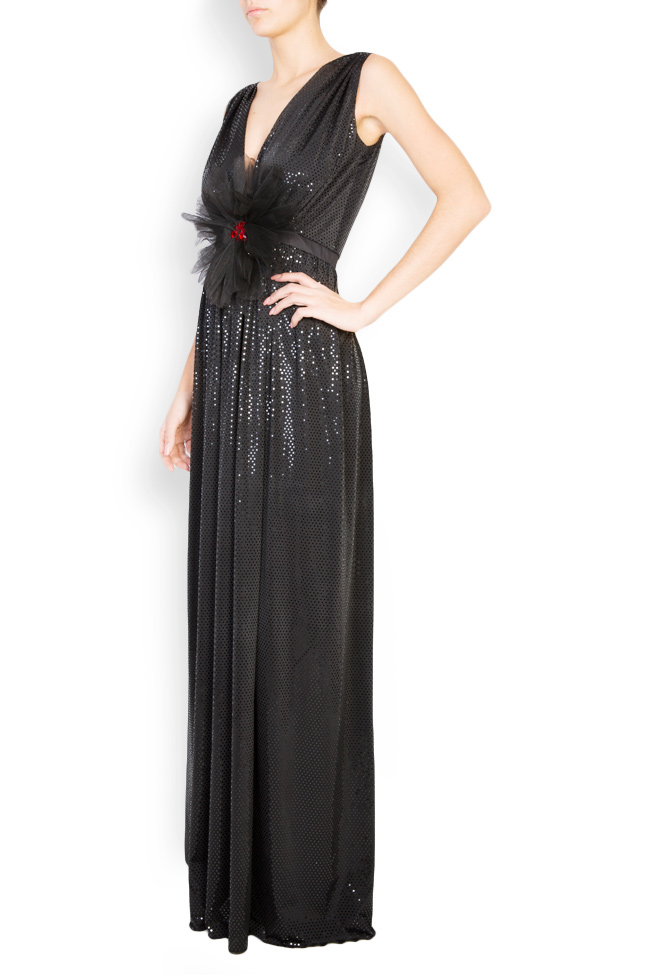 Embellished coated-tulle maxi dress   Andrei Spiridon image 1