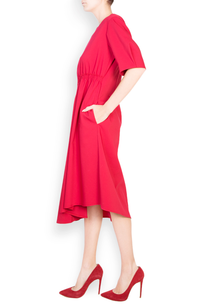 Asymmetric cotton crepe midi skirt Bluzat image 1