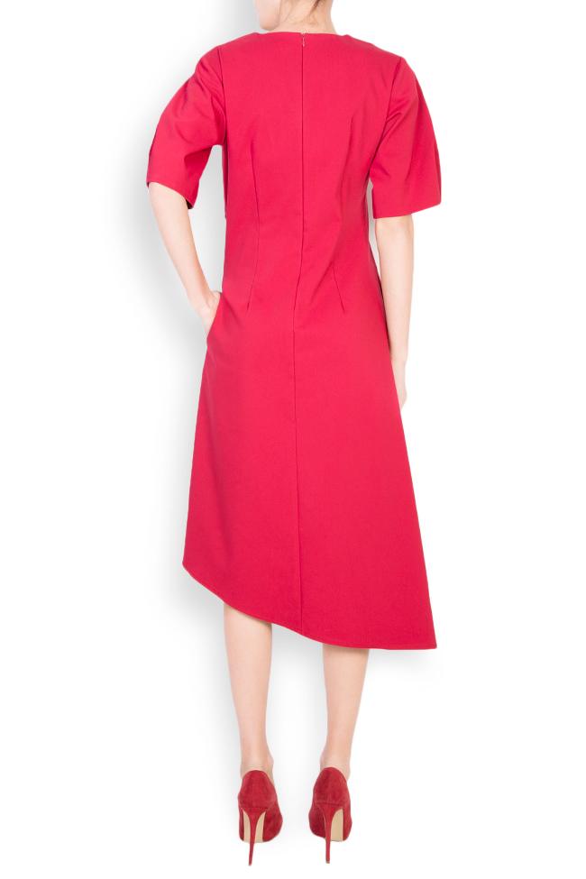 Asymmetric cotton crepe midi skirt Bluzat image 2