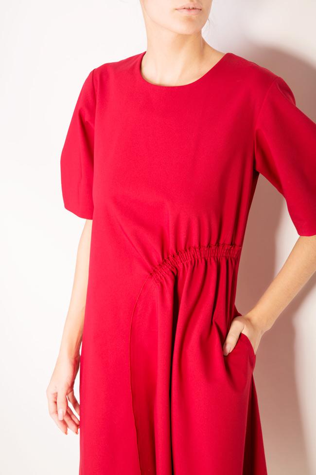 Asymmetric cotton crepe midi skirt Bluzat image 3