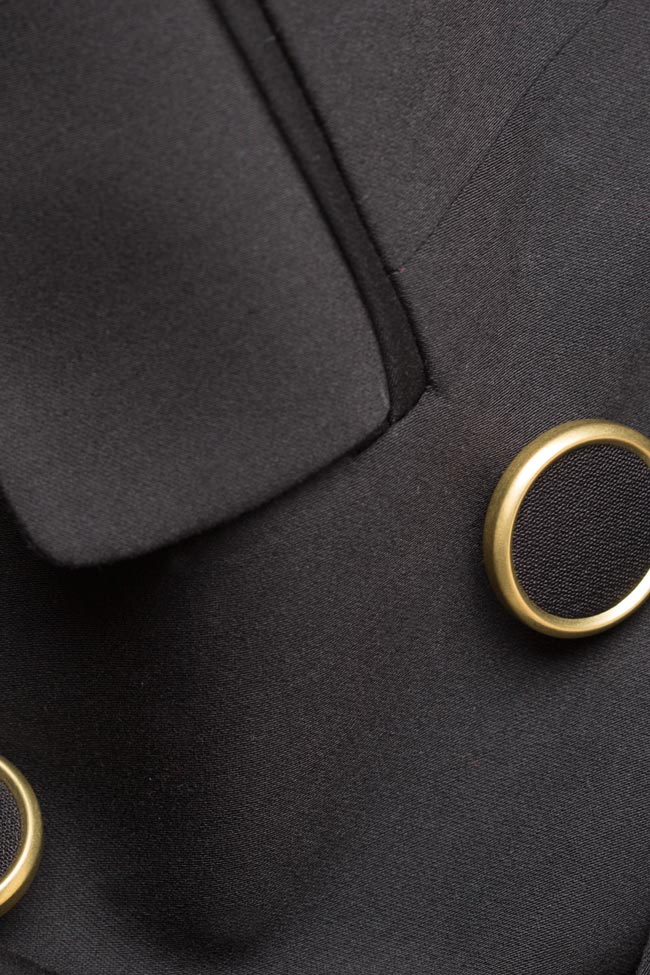 Sacou din amestec de bumbac cu doua randuri de nasturi Casino  Alina Cernatescu imagine 4