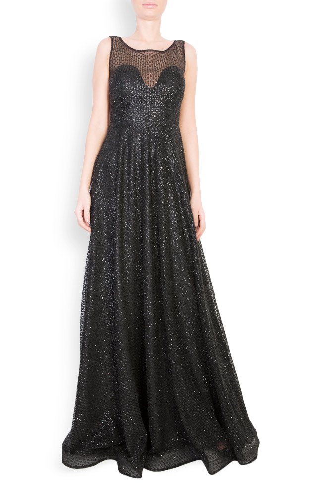 Sequinned embellished tulle gown Atelier Maria Iftimoaie image 0