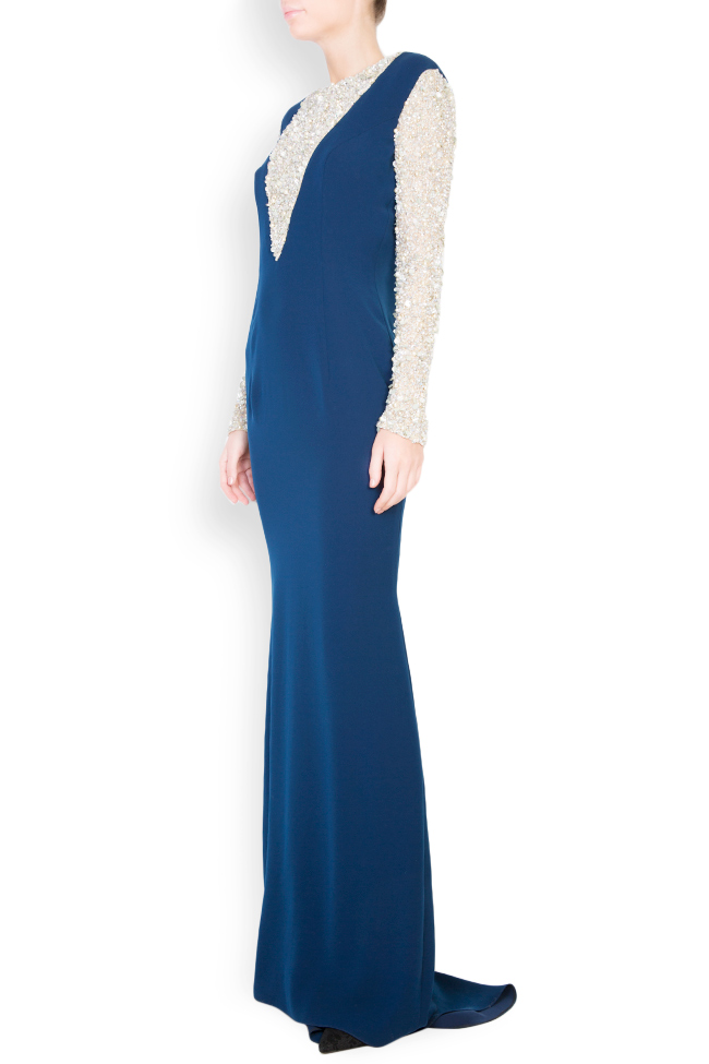 Sequinned embellished crepe maxi dress Atelier Maria Iftimoaie image 1