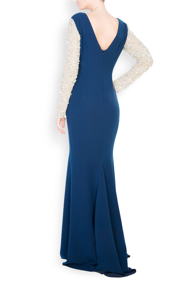 Sequinned embellished crepe maxi dress Atelier Maria Iftimoaie image 2