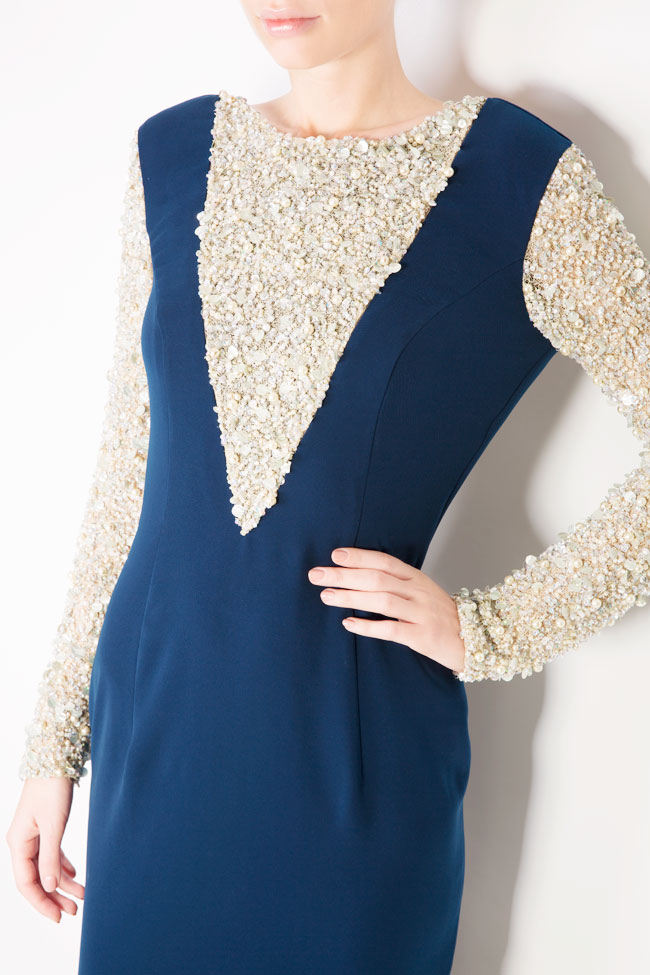 Sequinned embellished crepe maxi dress Atelier Maria Iftimoaie image 3
