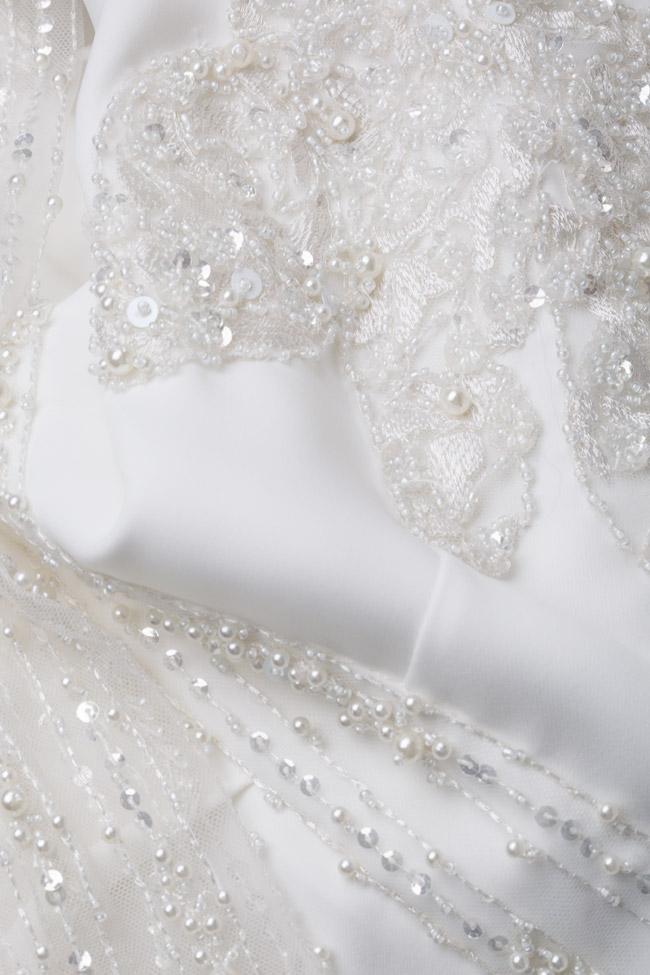 Combinaison en crêpe avec broderie accessoirisée manuellement Atelier Maria Iftimoaie image 4