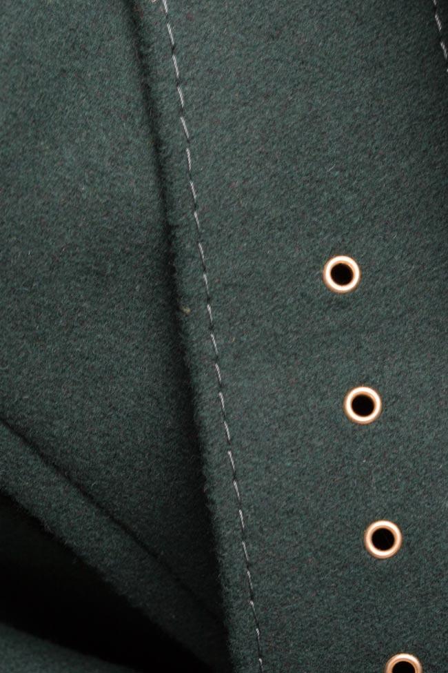 Manteau En étoffe De Laine Avec Ceinture Manteaux Sur Mesure