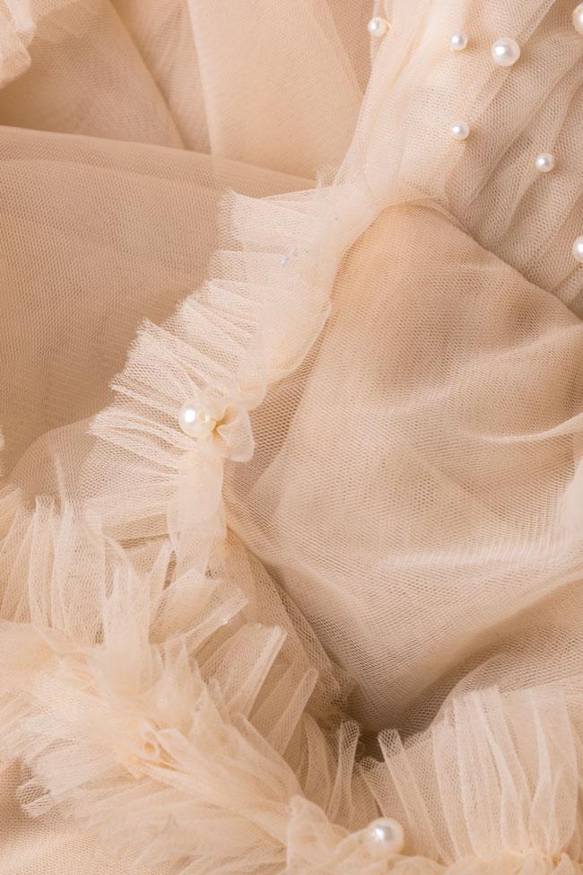 Robe à volants en tulle avec perles appliquées à la main Womanland by Irina Mazilu image 5