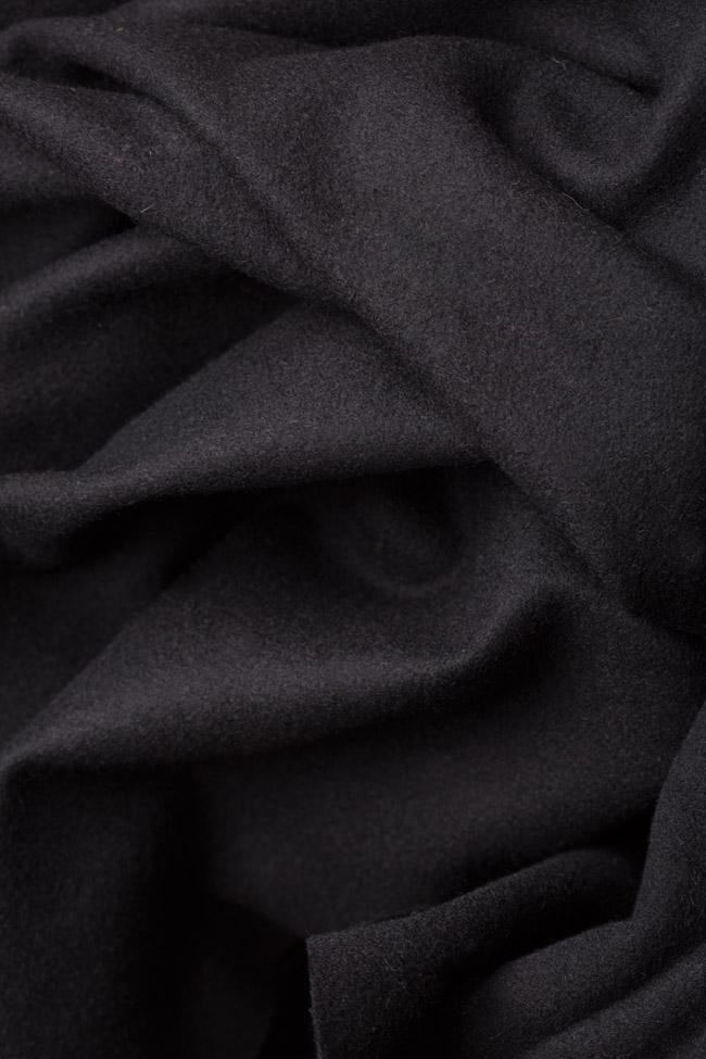 Jupe asymétrique en étoffe de laine avec volant Dorin Negrau image 4