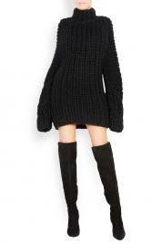 Dorin Negrau Rochie tip pulover din lana merino