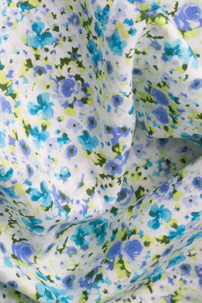 Camasa din bumbac cu imprimeu floral Dorin Negrau imagine 4