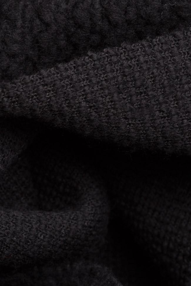Textured wool-blend cardigan Dorin Negrau image 4