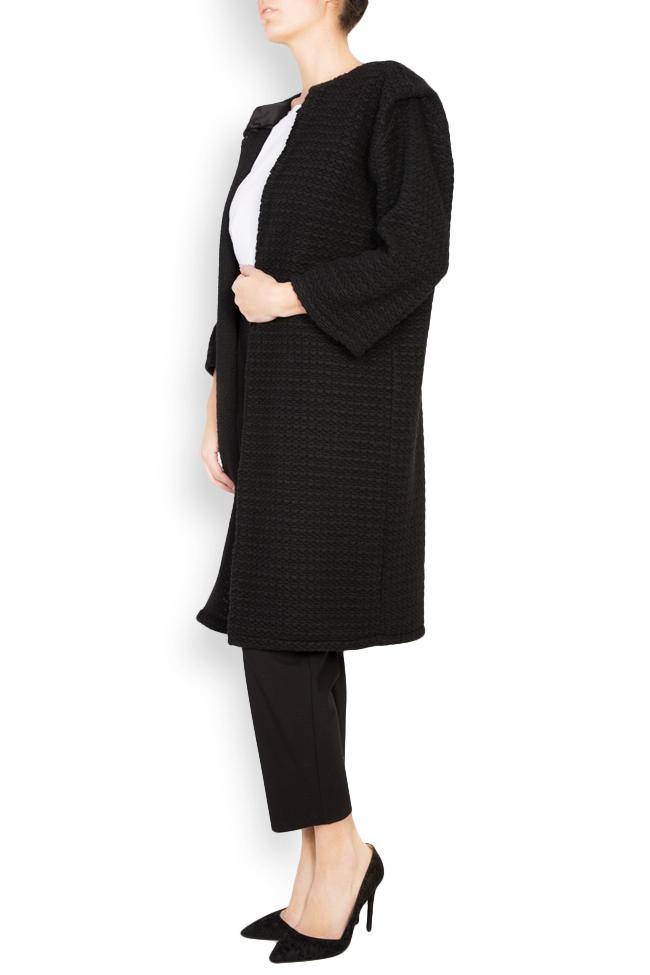 Textured wool-blend cardigan Dorin Negrau image 1