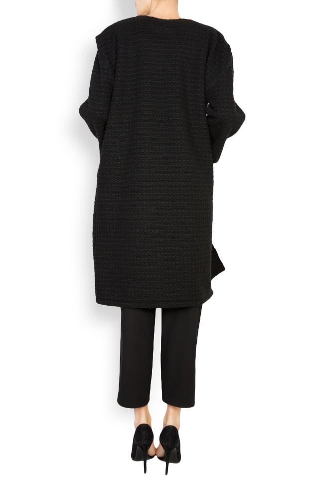 Textured wool-blend cardigan Dorin Negrau image 2