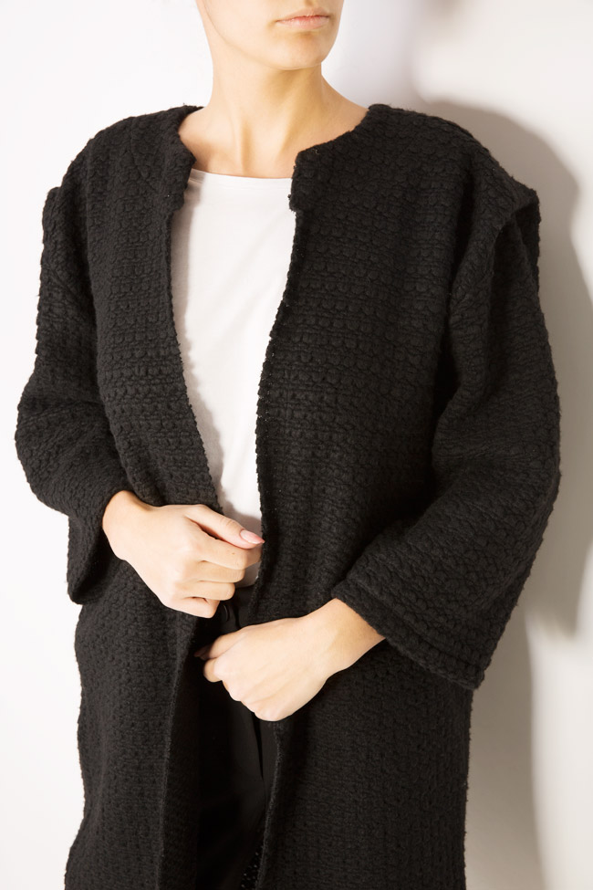 Textured wool-blend cardigan Dorin Negrau image 3