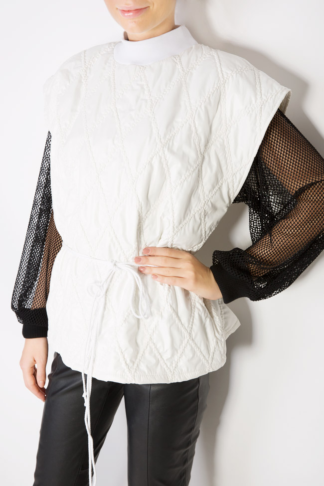 Embroidered shell vest Dorin Negrau image 3
