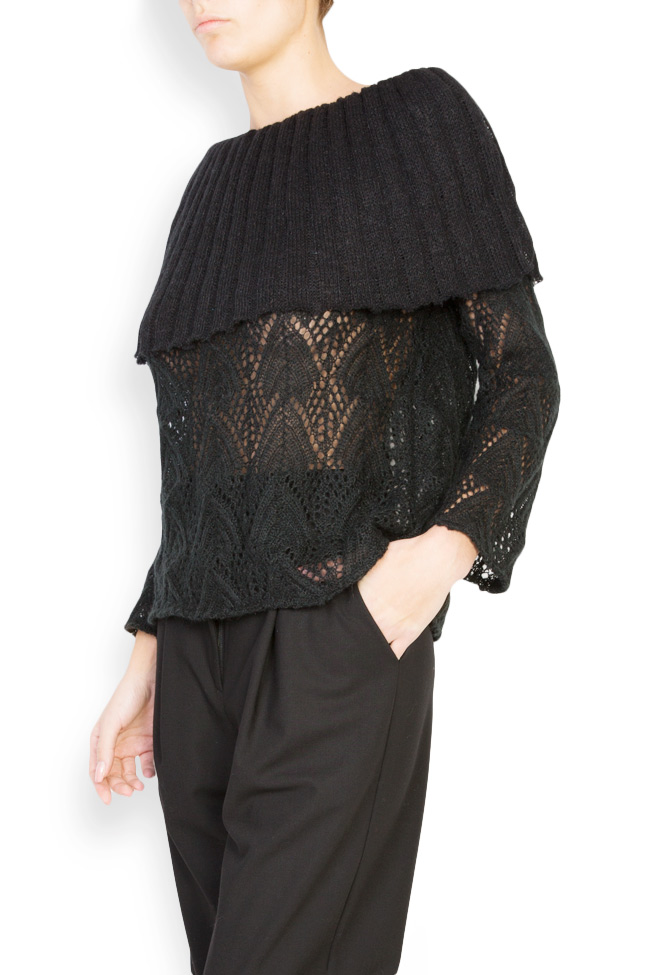 Off-the-shoulder cable-knit top Dorin Negrau image 1