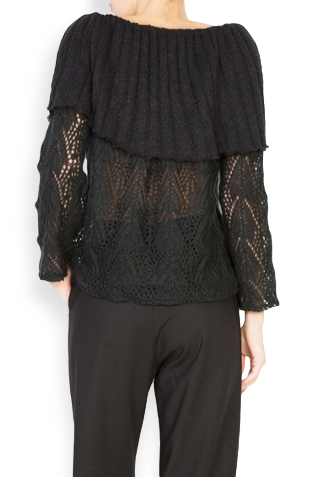 Off-the-shoulder cable-knit top Dorin Negrau image 2