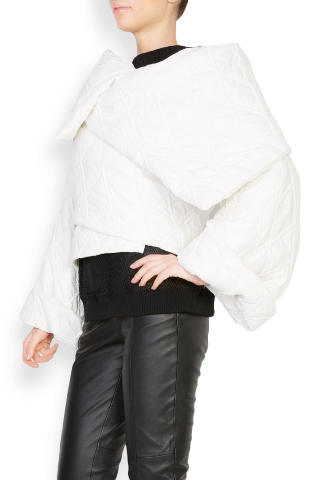 Embroidered asymmetric shell jacket Dorin Negrau image 1