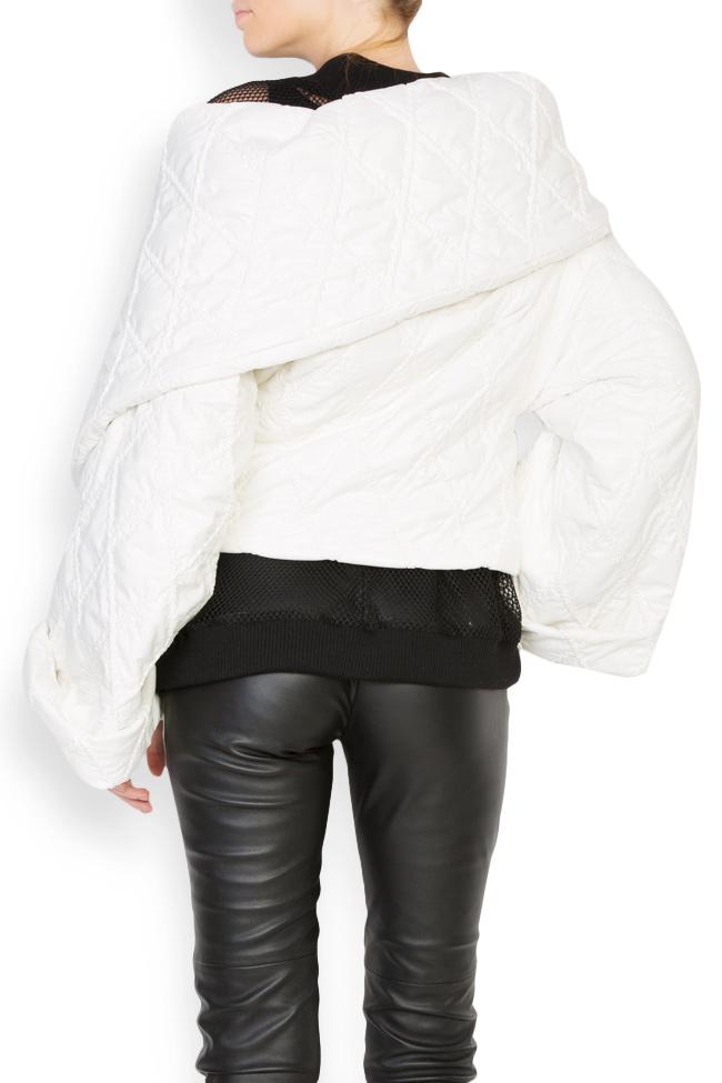 Veste asymetrique en tissu imperméable Dorin Negrau image 2