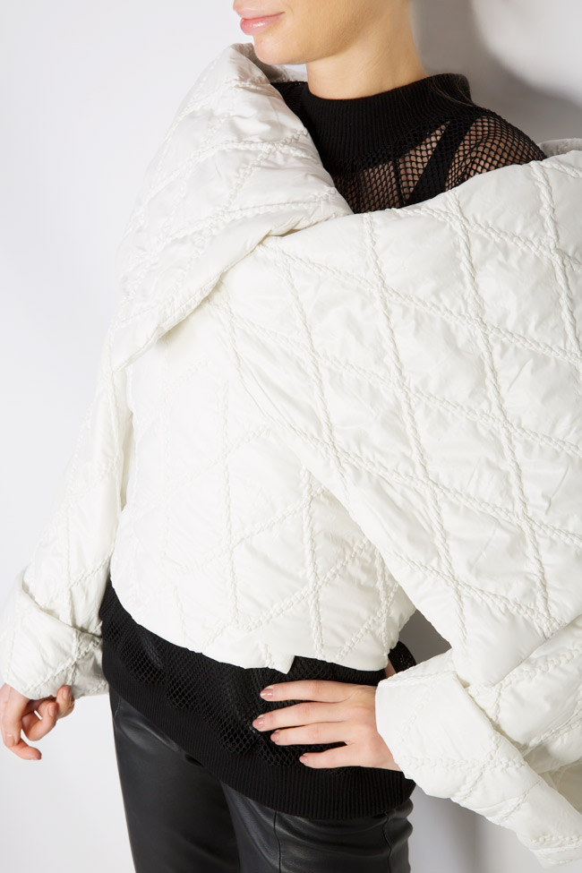 Embroidered asymmetric shell jacket Dorin Negrau image 3