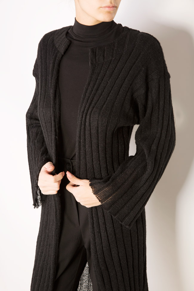 Flared sleeves cable-knit cardigan Dorin Negrau image 3
