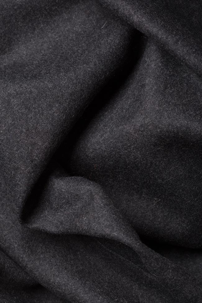 Manteau avec cordon en étoffe de laine Dorin Negrau image 4