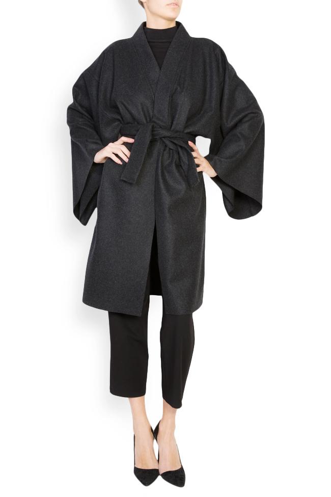 Manteau avec cordon en étoffe de laine Dorin Negrau image 0