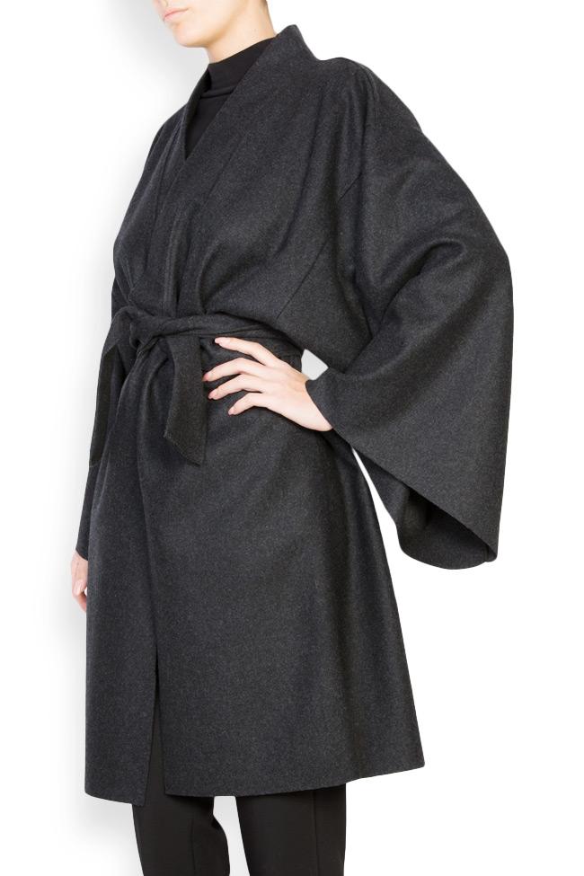 Manteau avec cordon en étoffe de laine Dorin Negrau image 1