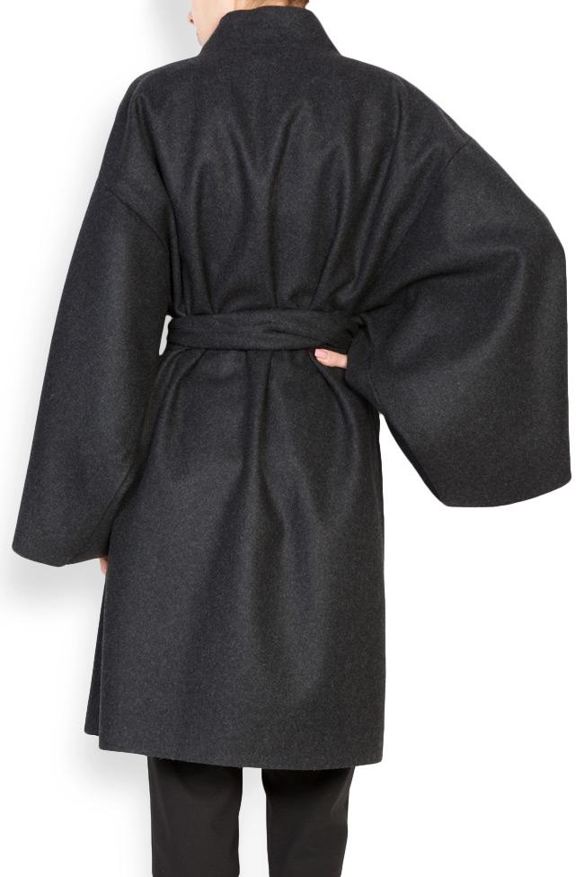 Manteau avec cordon en étoffe de laine Dorin Negrau image 2