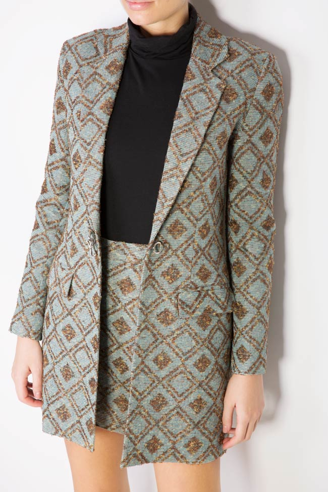 Printed wool blazer Womanland by Irina Mazilu image 3