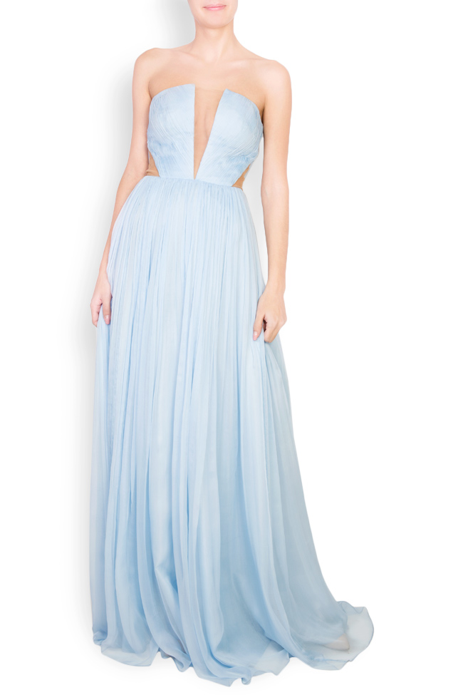 Helena cutout silk maxi dress Essa Lian image 0