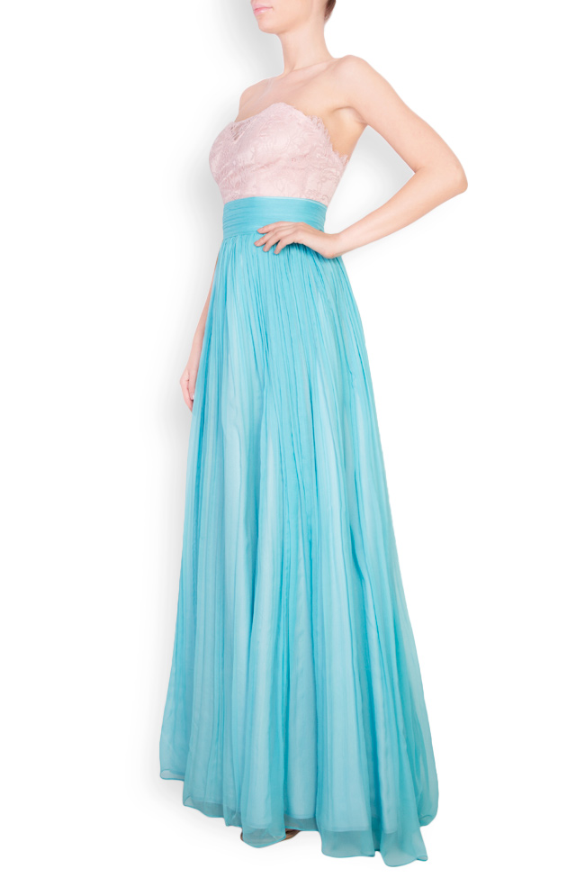 Mire lace-embellished silk-blend maxi dress Essa Lian image 1