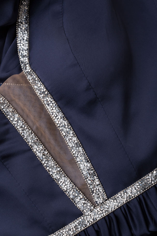 Rochie din matase brodata cu cristale Filipa  Essa Lian imagine 4
