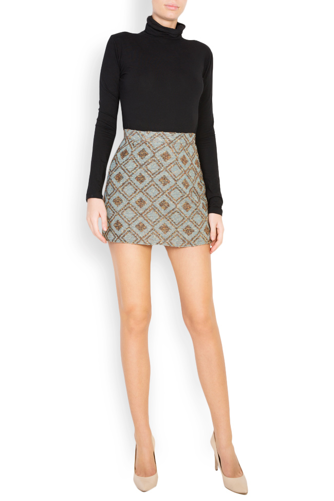 Printed wool mini skirt Womanland by Irina Mazilu image 0