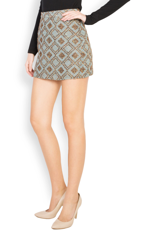 Printed wool mini skirt Womanland by Irina Mazilu image 1