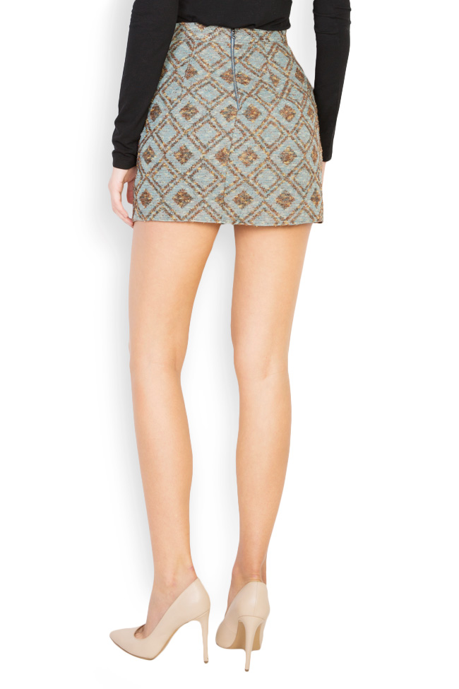 Printed wool mini skirt Womanland by Irina Mazilu image 2