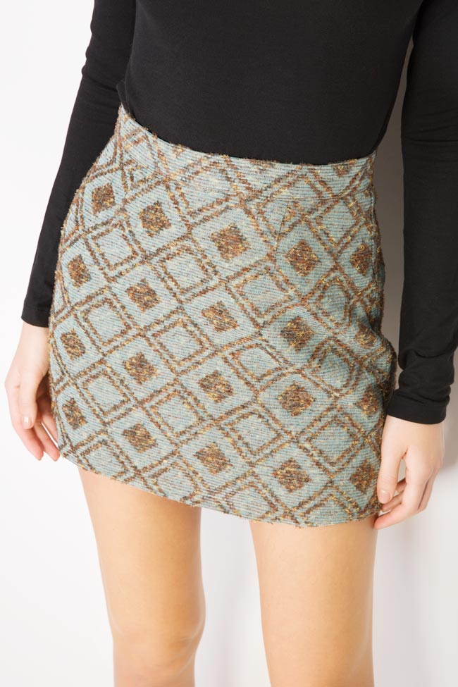 Printed wool mini skirt Womanland by Irina Mazilu image 3