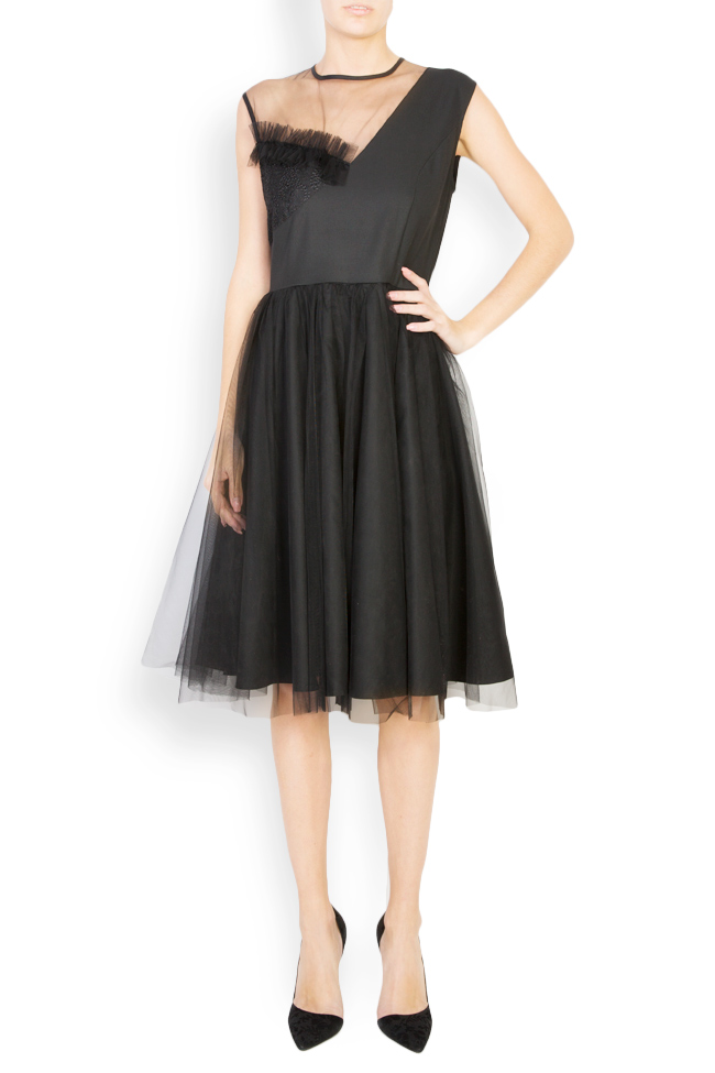 Kristen embellished tulle and lace midi dress Pulse  image 0
