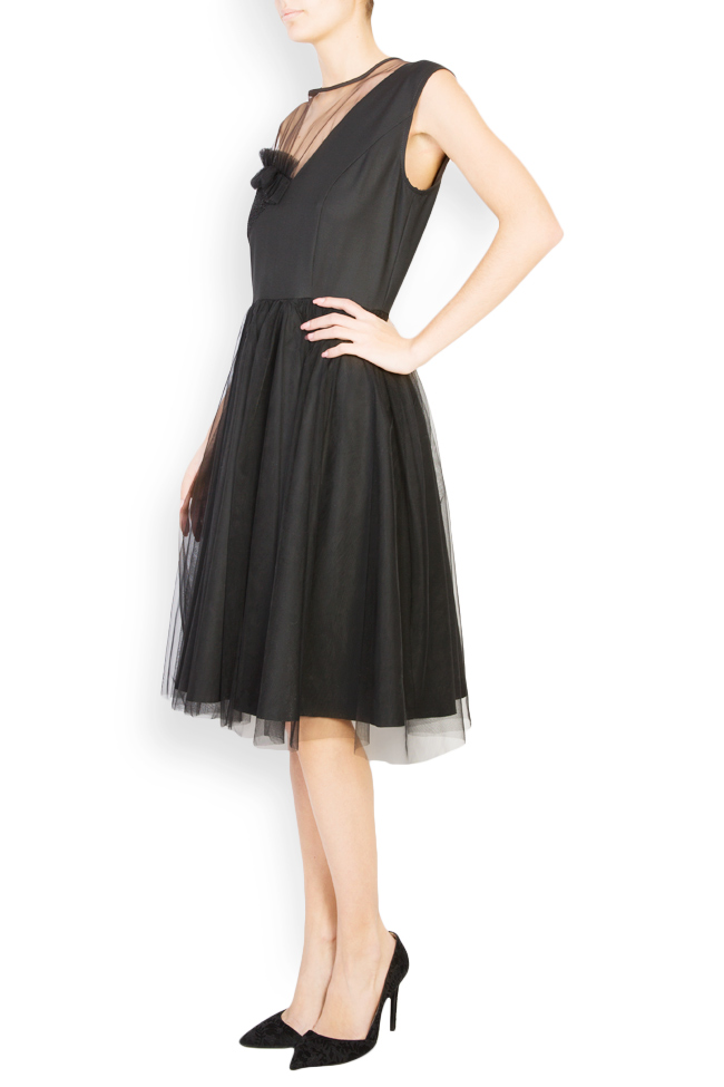 Kristen embellished tulle and lace midi dress Pulse  image 1