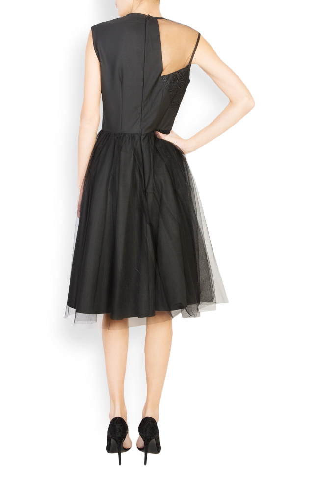 Kristen embellished tulle and lace midi dress Pulse  image 2