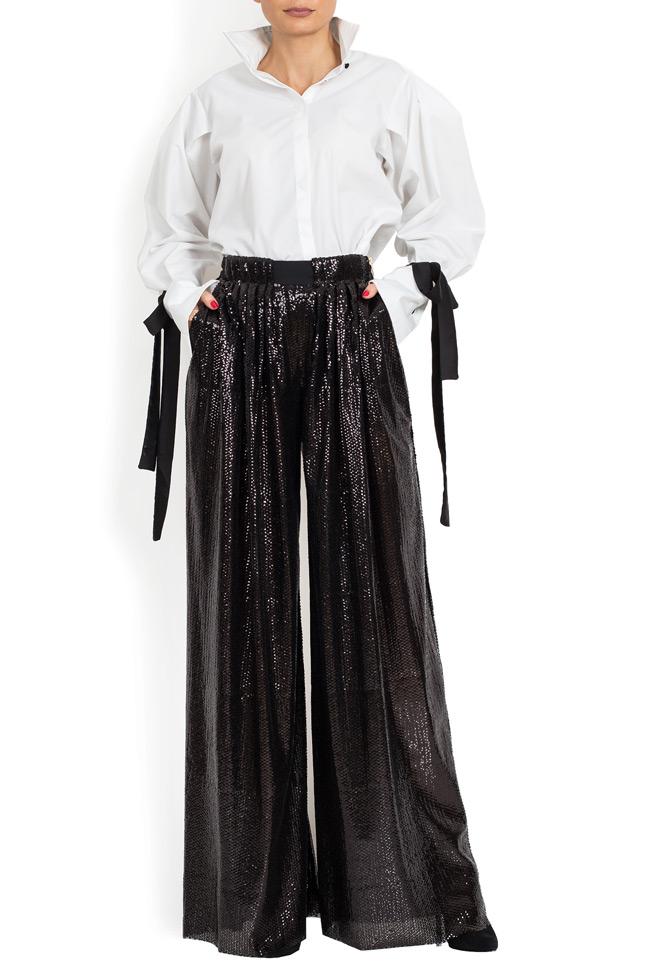 Pantaloni din paiete cu talie inalta BADEN 11 imagine 0