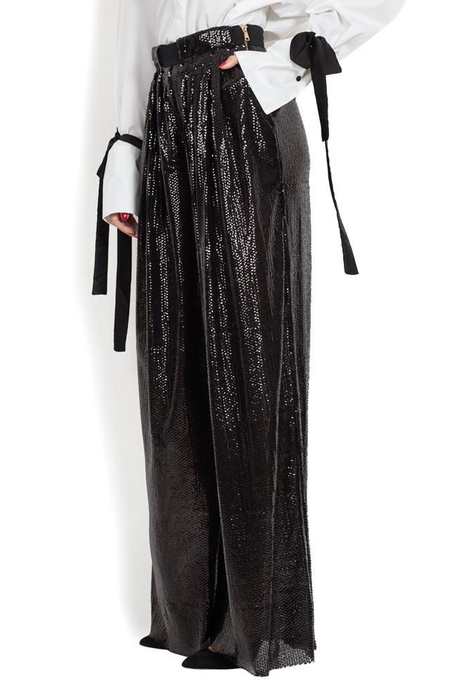 Pantaloni din paiete cu talie inalta BADEN 11 imagine 1