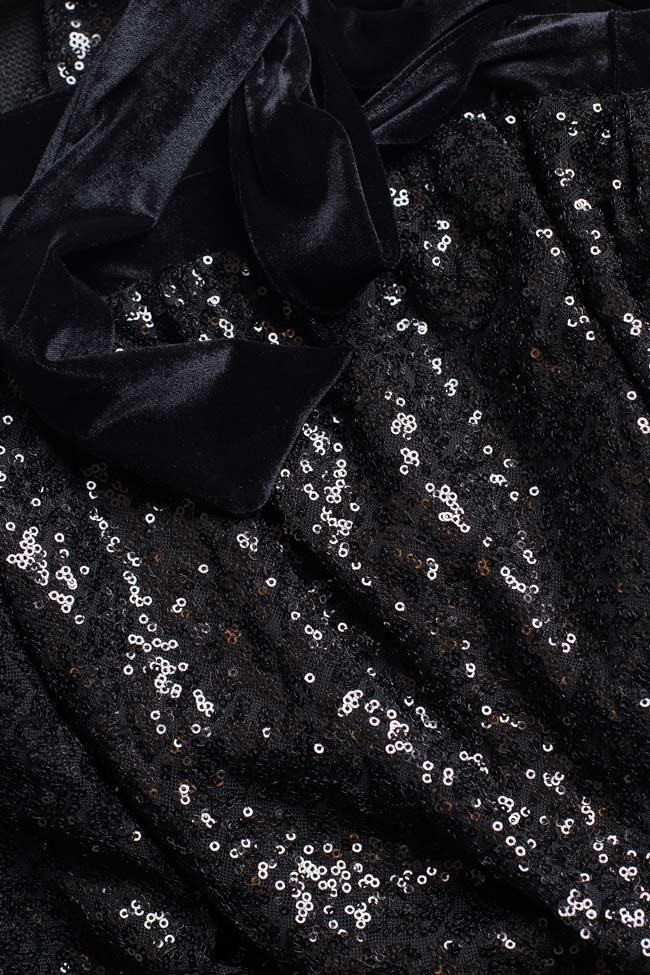 Robe maxi en sequins avec des rubans en velours BADEN 11 image 3