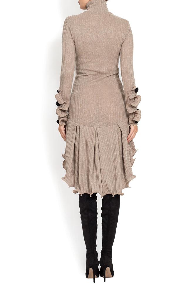 Rochie din tricot cu volane decorative BADEN 11 imagine 2