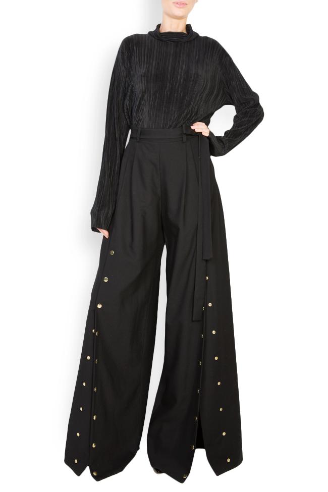 Cropped wool wide-leg pants Izabela Mandoiu image 0